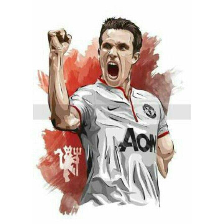 List of Beautiful Manchester United Wallpapers Cartoon #ManchesterUnited (2012-2015) - #RobinVanPersie #20
