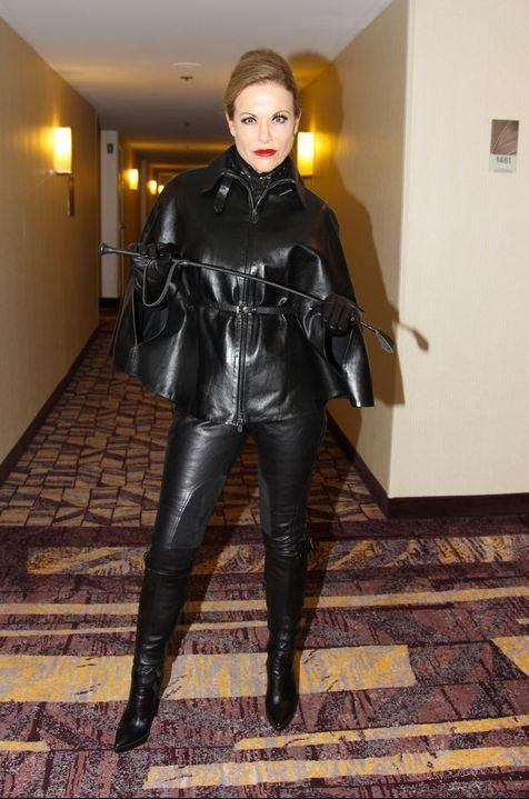 Mature dominatrix leather boots will