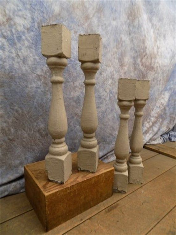 Best 4 Chunky Wood Balusters Wood Spindles Decor 400 x 300