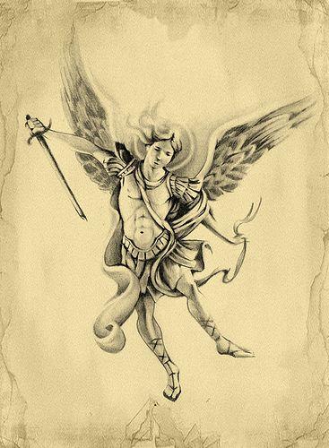 archangel michael archangel michael tattoo design tattoos pinterest dibujo grafico. Black Bedroom Furniture Sets. Home Design Ideas