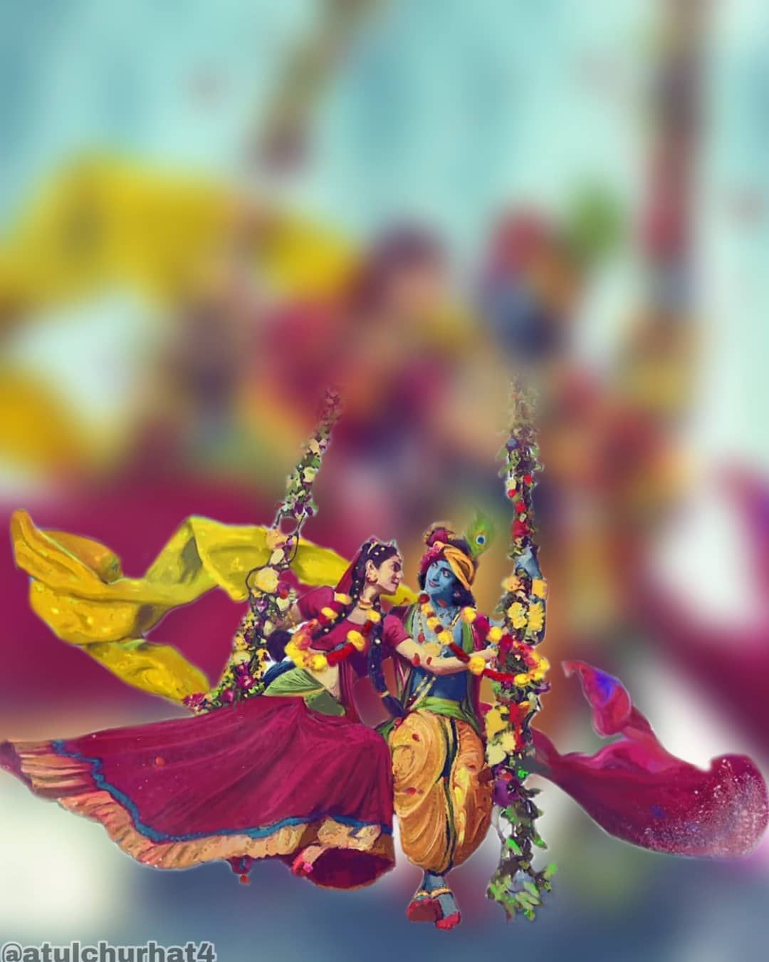 Image May Contain 3 People Flower Nature And Outdoor Radha Krishna Art Radha Krishna Photo Krishna Photos