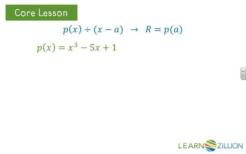 the remainder theorem common core algebra 2 homework answers
