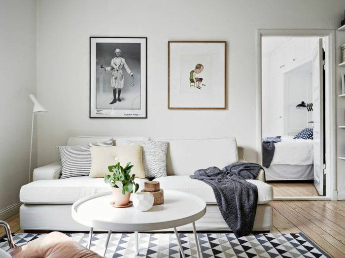 wohnzimmer skandinavische teppiche geometrsches muster | living, Wohnzimmer