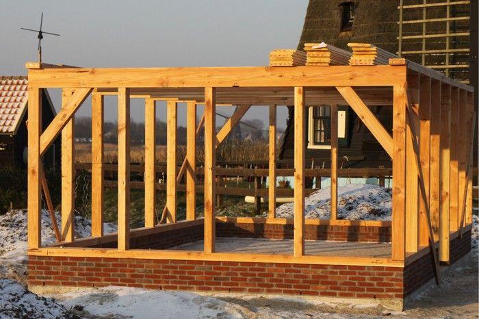 Schuur met plat dak bouwen google zoeken afdak pinterest zoeken google en garages - Ontwerp tuinhuis ...
