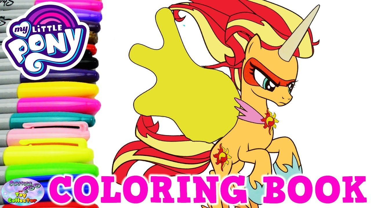 My Little Pony Coloring Book Daydream Shimmer MLP Sunset Surprise Egg an...