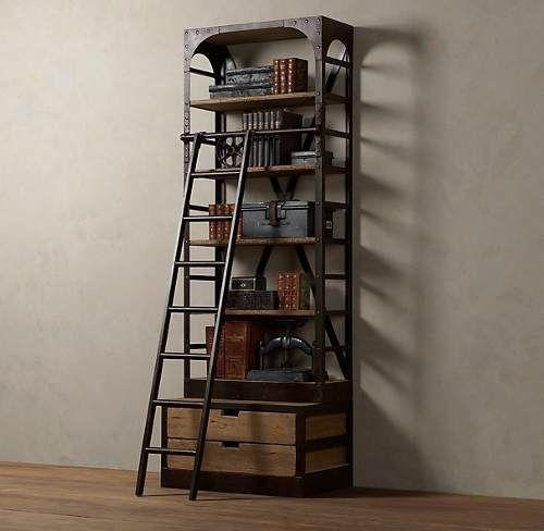 Estanterías De Hierro, Biblioteca Industrial Rh Baires - $ 9.080,00 en MercadoLibre