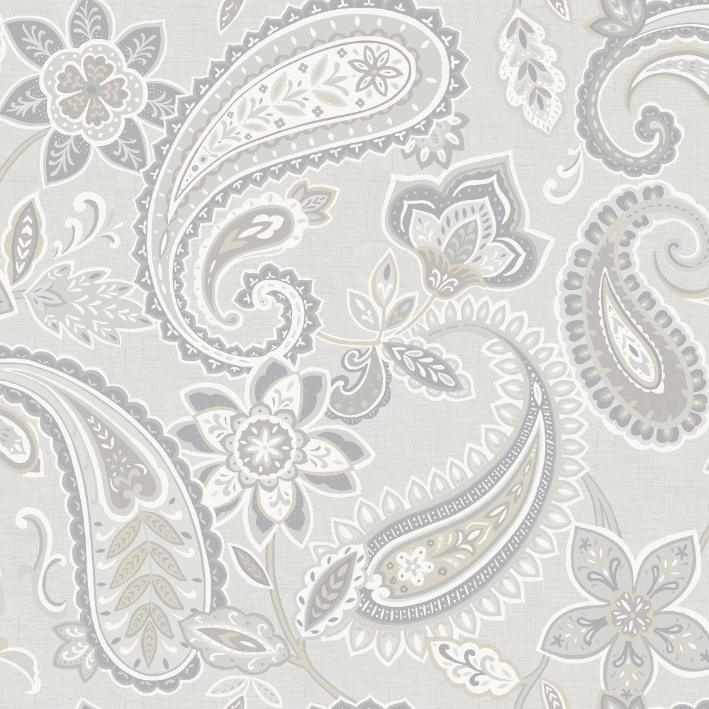 Holden decor holden d cor indira paisley pattern floral for Paisley wallpaper