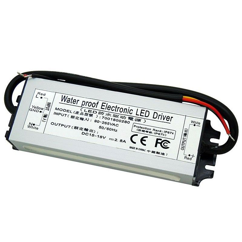 50w Led Driver Dc 15 18v 2 8a Ip67 Waterproof Led Drivers Waterproof Led Led