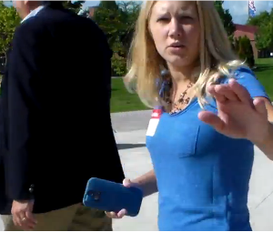 VIDEO: MI-01 Congressman Dan Benishek refuses to say if he'll pledge not to vote to shutdown the government while aide tries to grab camera | Eclectablog