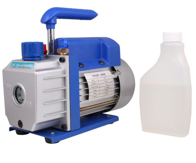 3 CFM Single-Stage Rotary Vane Vacuum Pump R410a R134 HVAC A/C Air