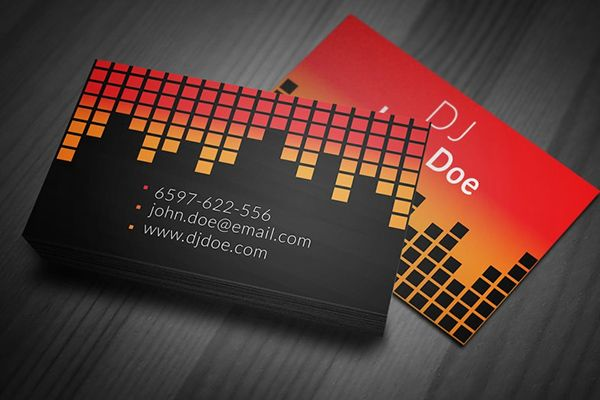 Amazing Free Business Card PSD Templates Dj Business Cards - Free dj business card template