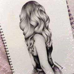 How To Draw The Back Of A Girl S Hair Art Hipster Girl Drawing Drawings