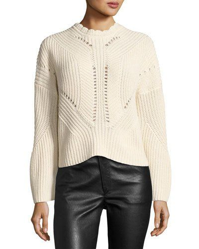 B3RYM Isabel Marant Grifin Knit Lace-Up Sweater bf2c07883