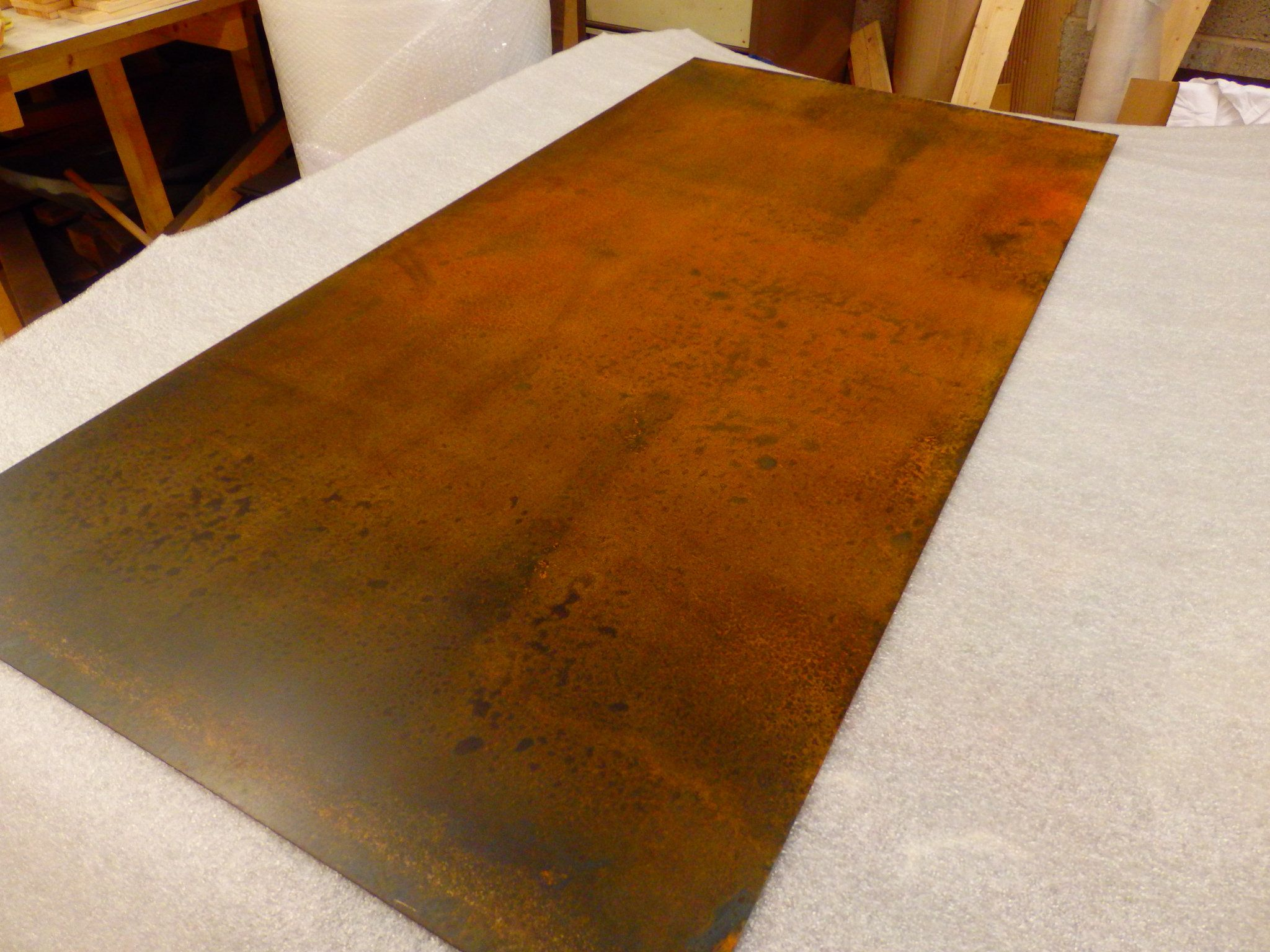45 Rusted Mild Steel Panel With Clear Lacquer Finish 100cm X 50cm Steel Panels Paneling Steel