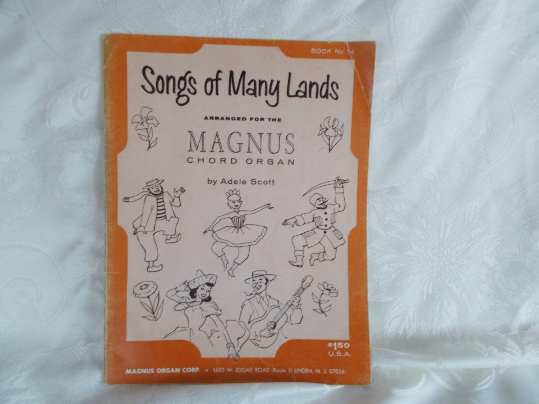 Vintage Magnus Chord Organ Music Book