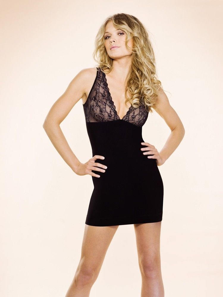 Firming Microfiber Slip With Lace