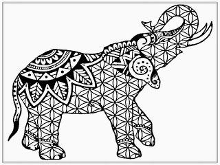 African Elephant Coloring Pages Adult | Adult Coloring | Pinterest ...