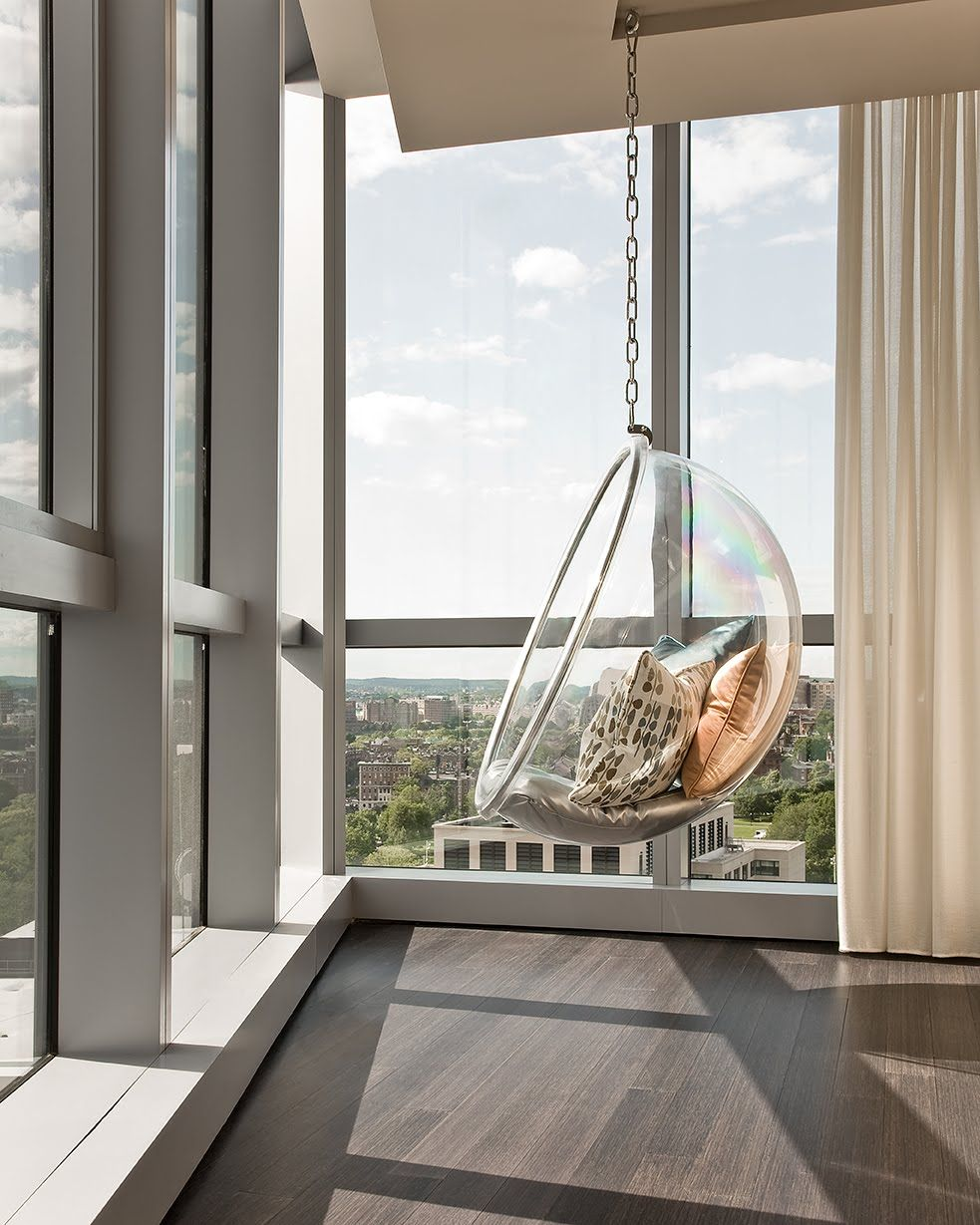 Bubble chair, The W Hotel, Boston | Happy Entry | Pinterest | Bubble ...