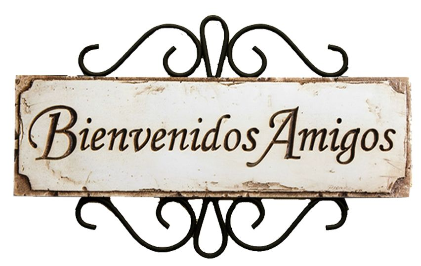 Spanish welcome friends sign bienvenidos amigos item 589d for De signs
