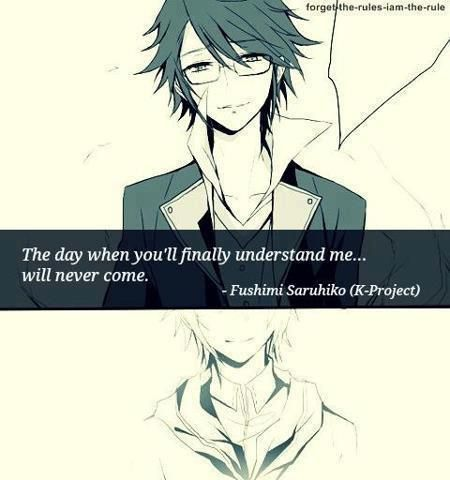 Anime Quotes Tumblr Google Search Anime Pinterest K Project