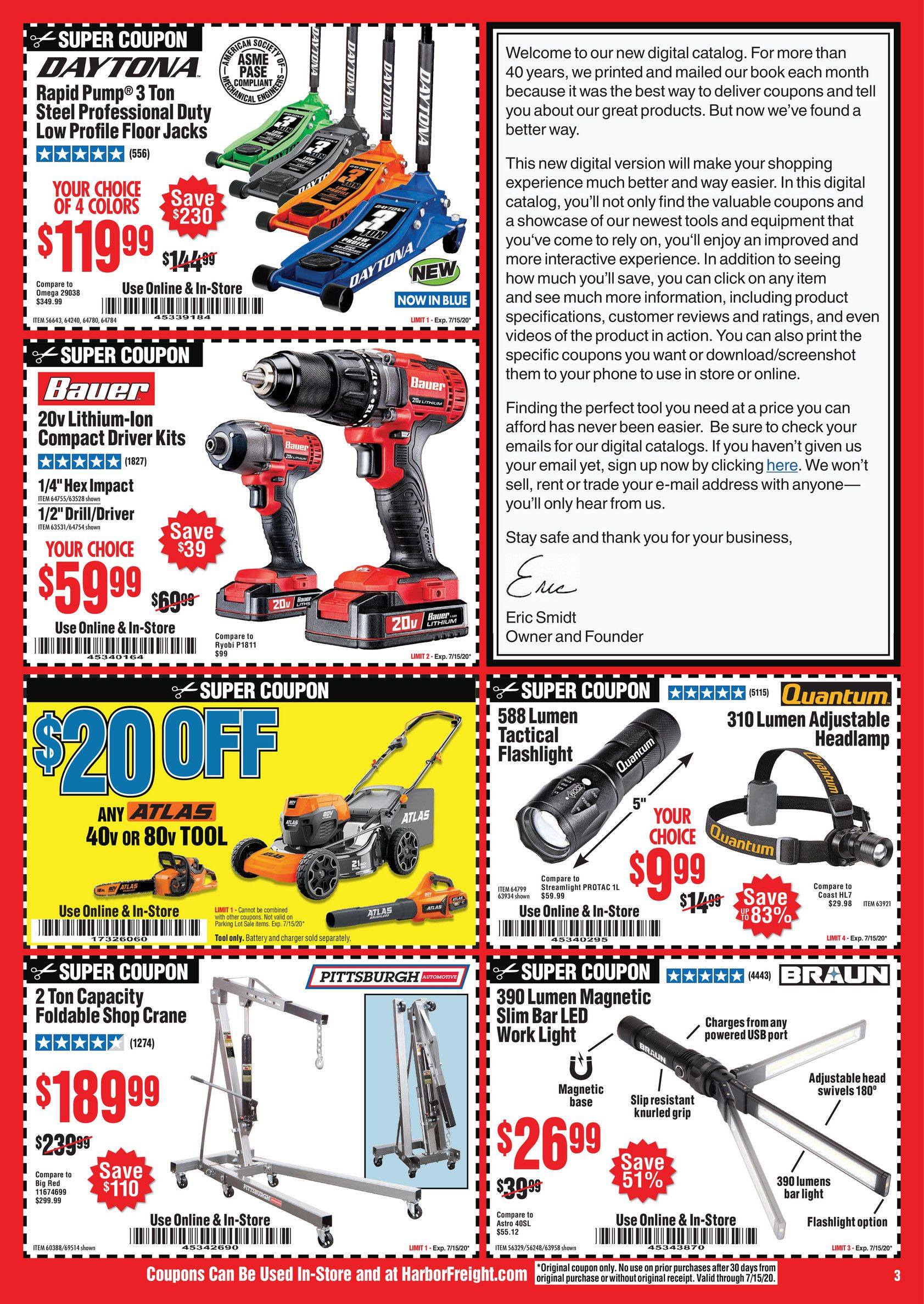 Harbor Freight Tools July 2020 Ad Page 3
