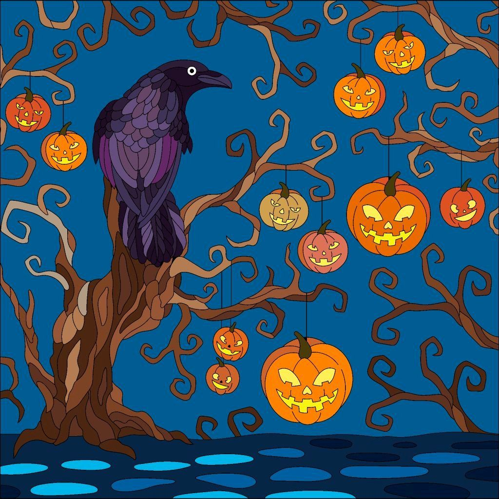 Coloring By Number Apps Awesome The Raven Halloween Color By Number In 2019 Coloring Book App Animal Coloring Books Coloring Books