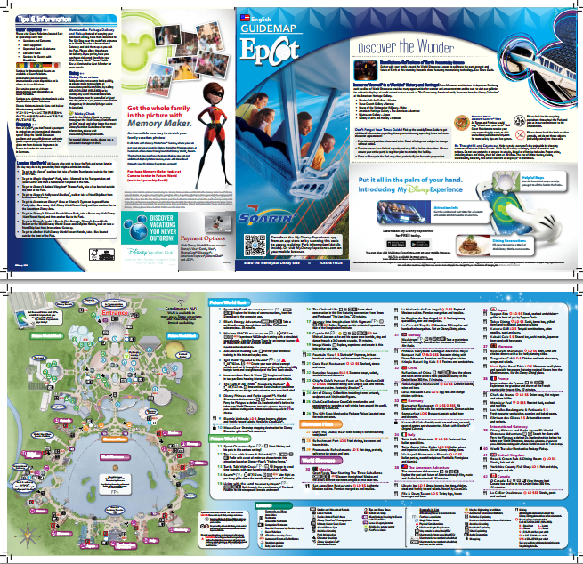 photograph about Printable Epcot Map called Epcot park map - print/watch in advance of by yourself transfer (PDF) Disney