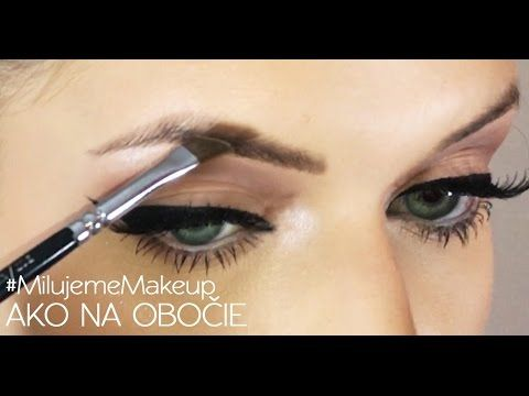 VIDEO: Ako nalíčiť obočie • Akadémia Krásy #nalíčiť