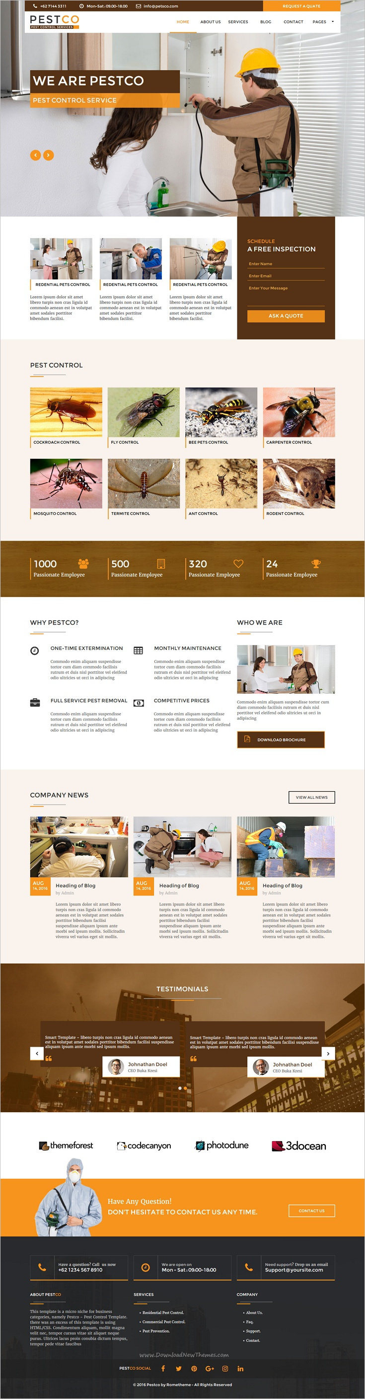 pestco is a clean modern and fully responsive muse template for pest services business website download now