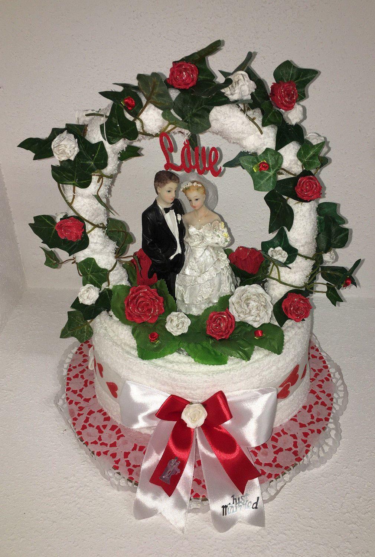 Details Zu Hochzeit Torte Geldgeschenk Handtuchtorte Grun