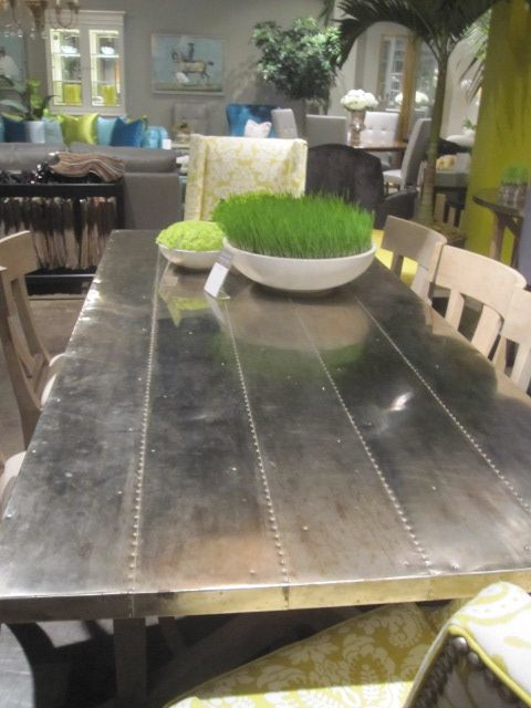 metal covered table top | Metal dining table, Dining, Diy ...