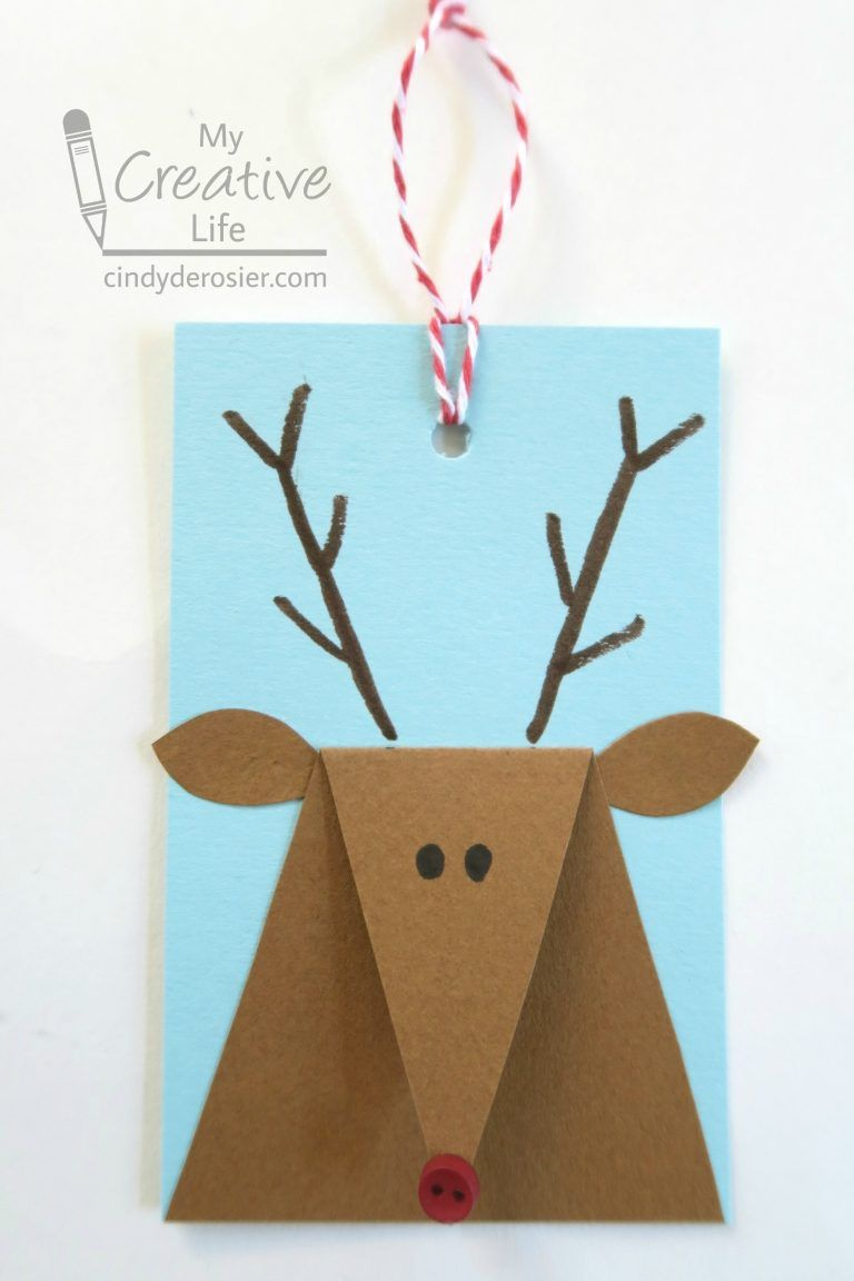 Reindeer Gift Tags | Fun Family Crafts #reindeerchristmas