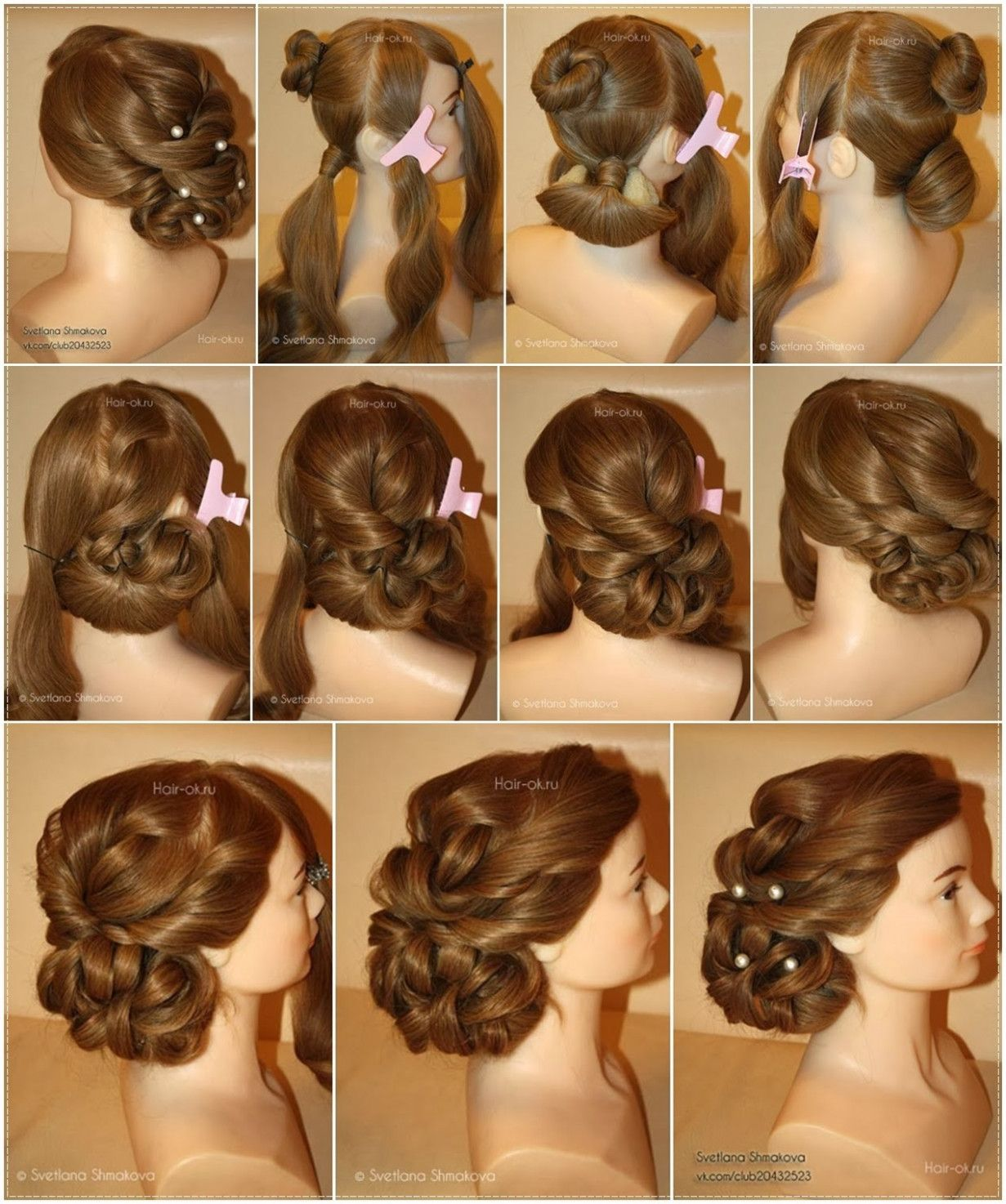 Wedding Hairstyles Tutorial Step By Step Diy Hairstyles Hair Styles Easy Hairstyles