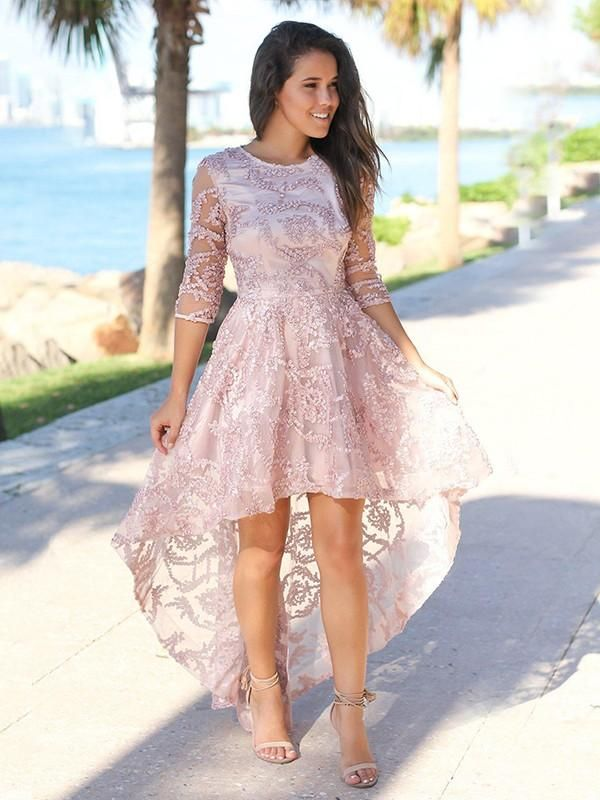 4 Sleeves Asymmetrical Homecoming Dresses YB33PO2085 - Prom dresses with sleeves, Plus size prom dresses, Prom dresses short, A line prom dresses, Evening dresses prom, Prom gown - 4 Sleeves Asymmetrical Homecoming Dresses YB33PO2085, When shopping for your 2020 prom gown, it is important to find a style that complements your figure