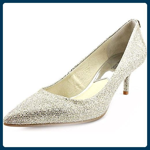 Michael Kors MK Flex Kitten Pump Damen Silber Pumps Schuhe