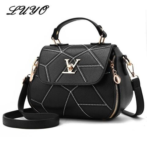 b5e86dbf16 2018 Fashion Woman Geometry Small V Style Saddle Luxury Handbags Crossbody  For Women Famous Brands Messenger Bags Designer Louis