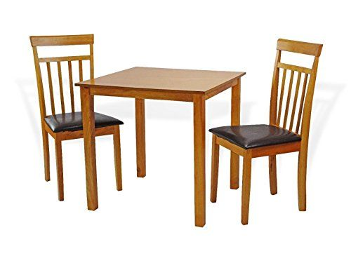 Dining Kitchen 3 Pc Set Square Table 2 Warm Chairs In Maple Finish Modern Kitchen Tables Kitchen Sets Square Tables