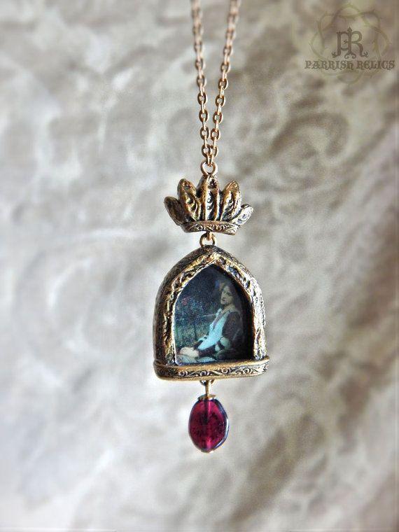 Saint cecilia crowned pictorial amulet necklace by parrishrelics saint cecilia crowned pictorial amulet necklace by parrishrelics mozeypictures Choice Image
