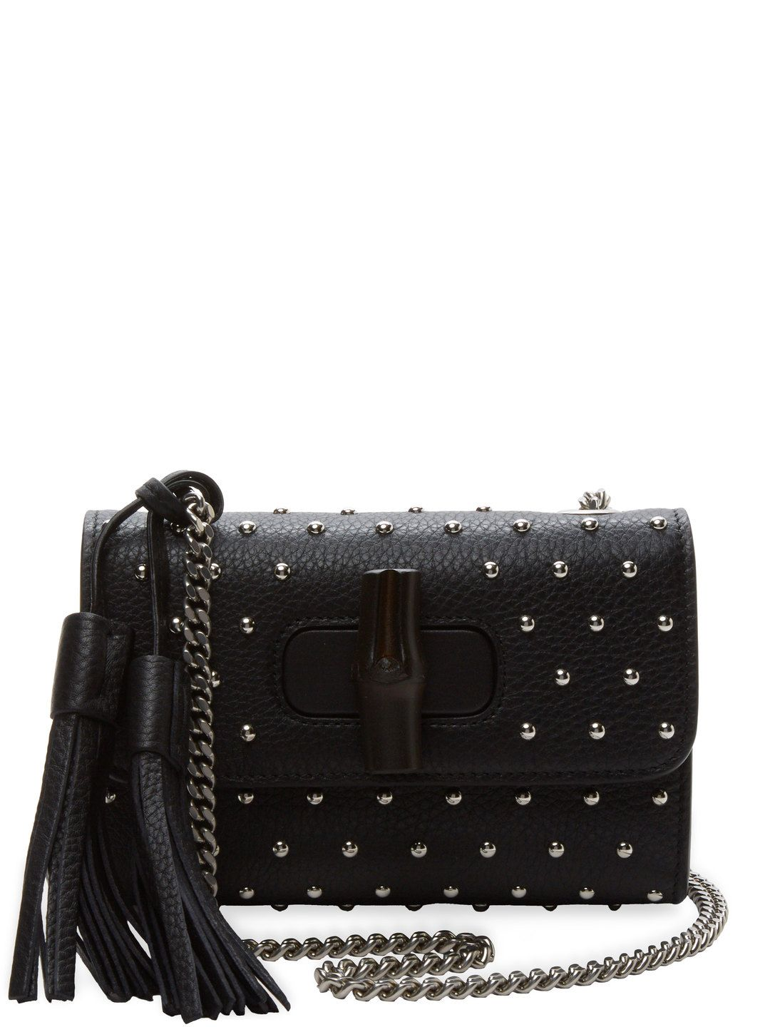8340d38af0 Miss Bamboo Wood Small Studded Leather Crossbody by Gucci Clothing    Accessories at Gilt