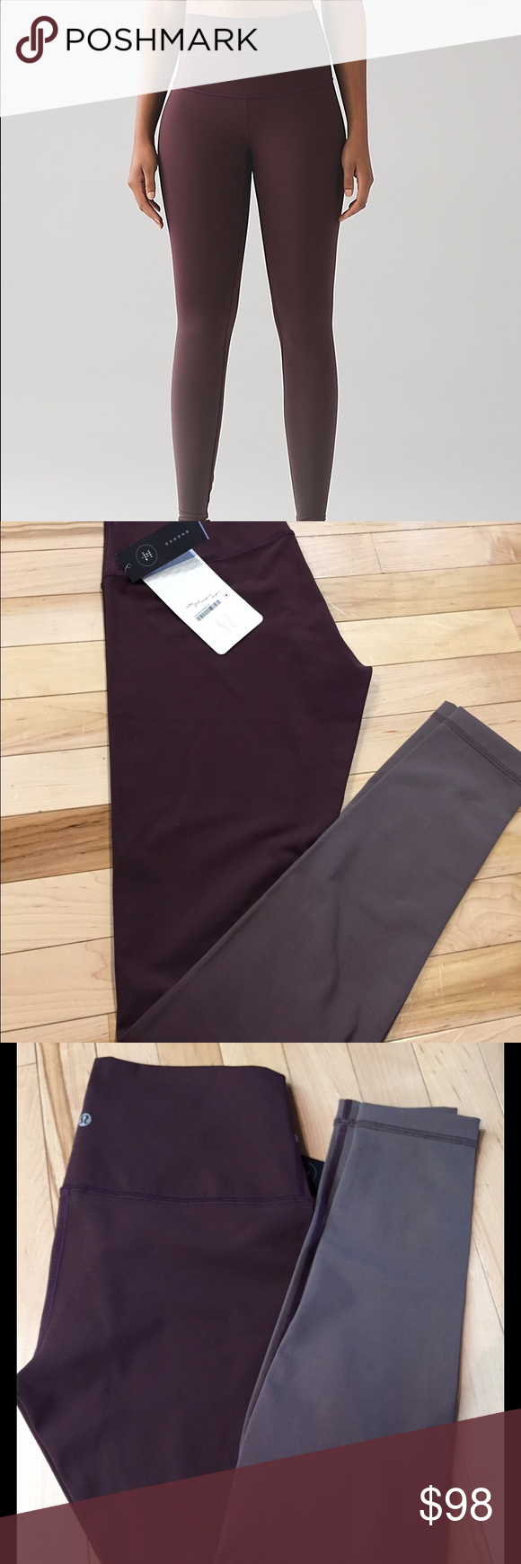 8138d37a2 NWT Lululemon Size 10 Ombre Wunder Under HR - BC New With Tags Lululemon  Ombre Wunder Unders (Full Length) - Black Cherry. Full on Luxtreme.