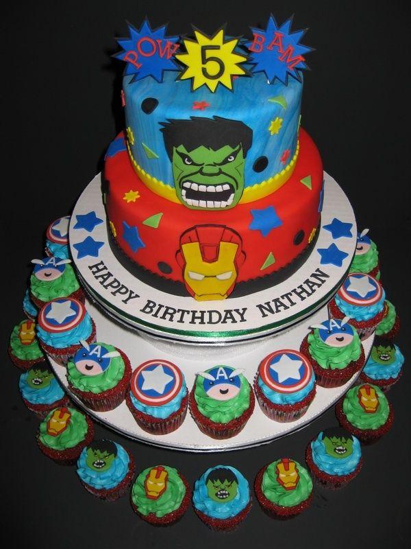 Avengers Cake Walmart : avengers, walmart, Maricel, Prescott, Avengers, Birthday, Cakes,, Toppers,, Avenger