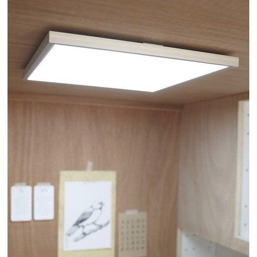 Panneau Led Integree Gdansk Inspire Carre 30 X 30 Cm 15 W Alu Avec Images Panneau Led Eclairage Cuisine Dressing Leroy Merlin
