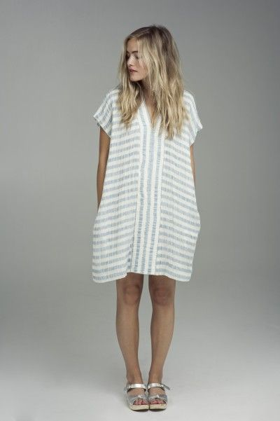 oversized stripe dress #effortless