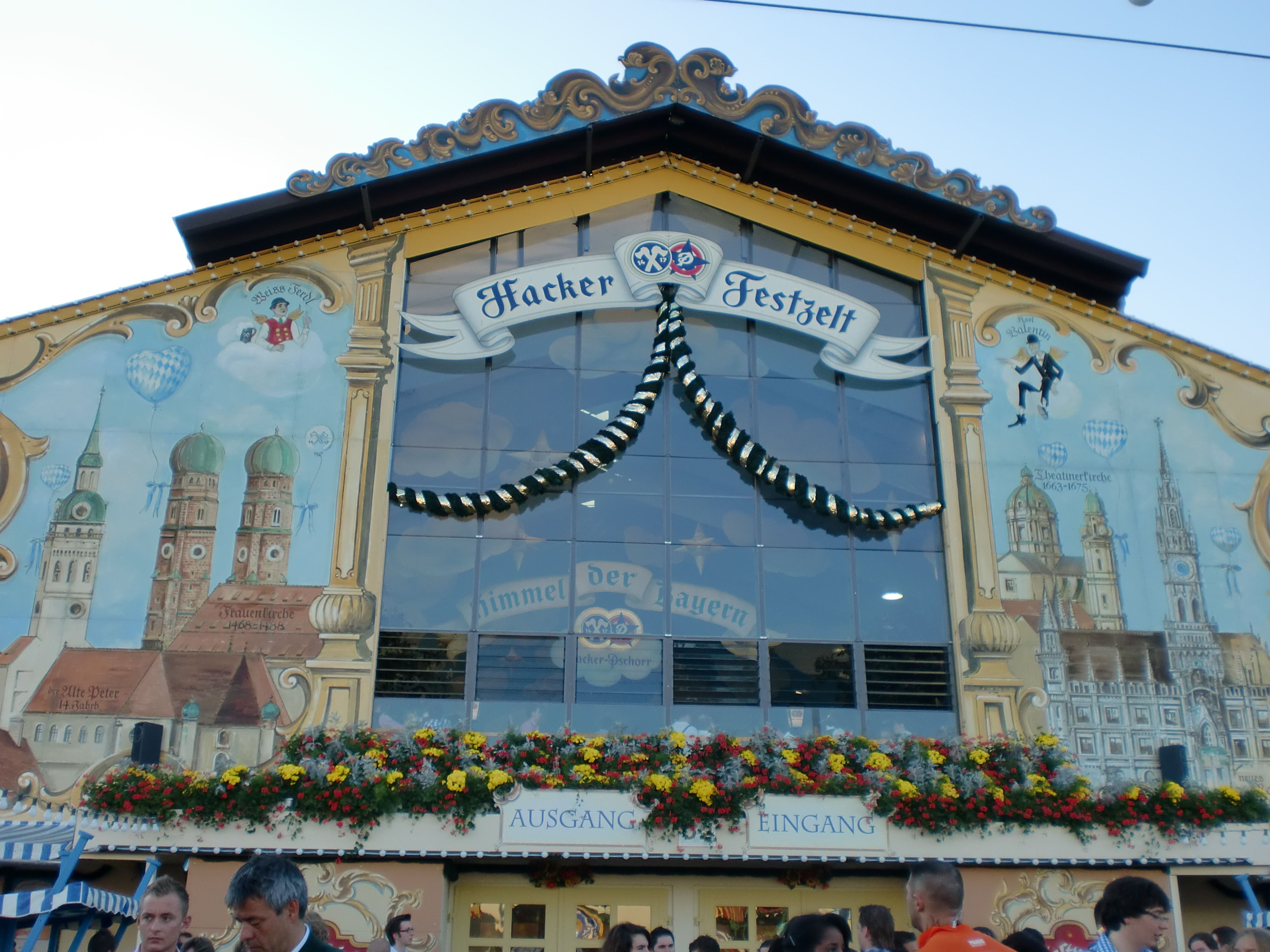 A backpackeru0027s guide to Oktoberfest beer festival in Munich Germany. & Hacker Festzelt | See You in Europe | Pinterest | Munich Beer ...