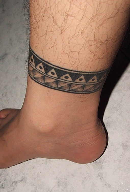 Best Ankle Tattoos For Men Inspiration And Ideas Inspiring Mode Ankle Tattoo Designs Leg Tattoos Leg Band Tattoos