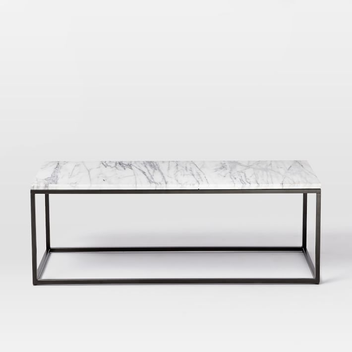 Marble Coffee Table Melbourne: Box Frame Coffee Table - Marble/Antique Bronze