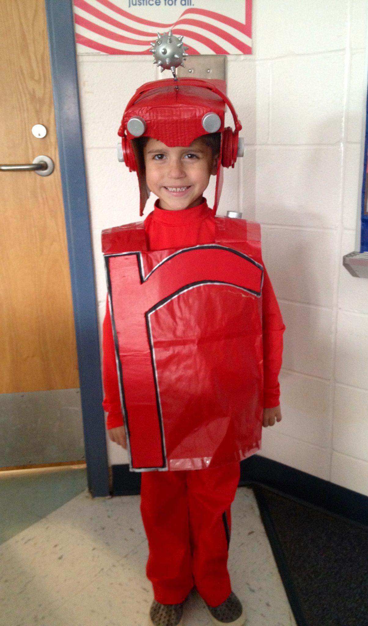 Letterland Red Robot Costume