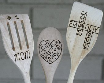 Mother in Law Personalized Wooden Spoons Mom/'s Kitchen Wooden Spoon Customized Grandma Mothers Day Gift Made with Love Gift for Mom