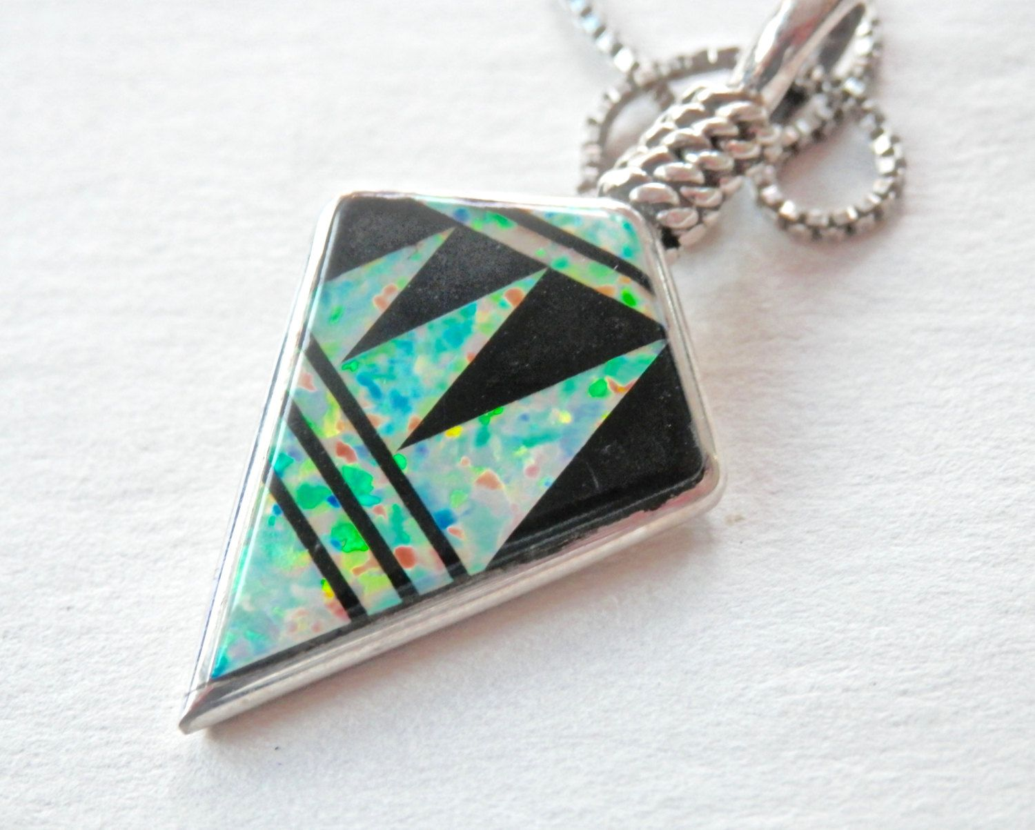 Native american pendant opal necklace opal inlay onyx inlay native american pendant opal necklace opal inlay onyx inlay tomahawk pendant mozeypictures Images
