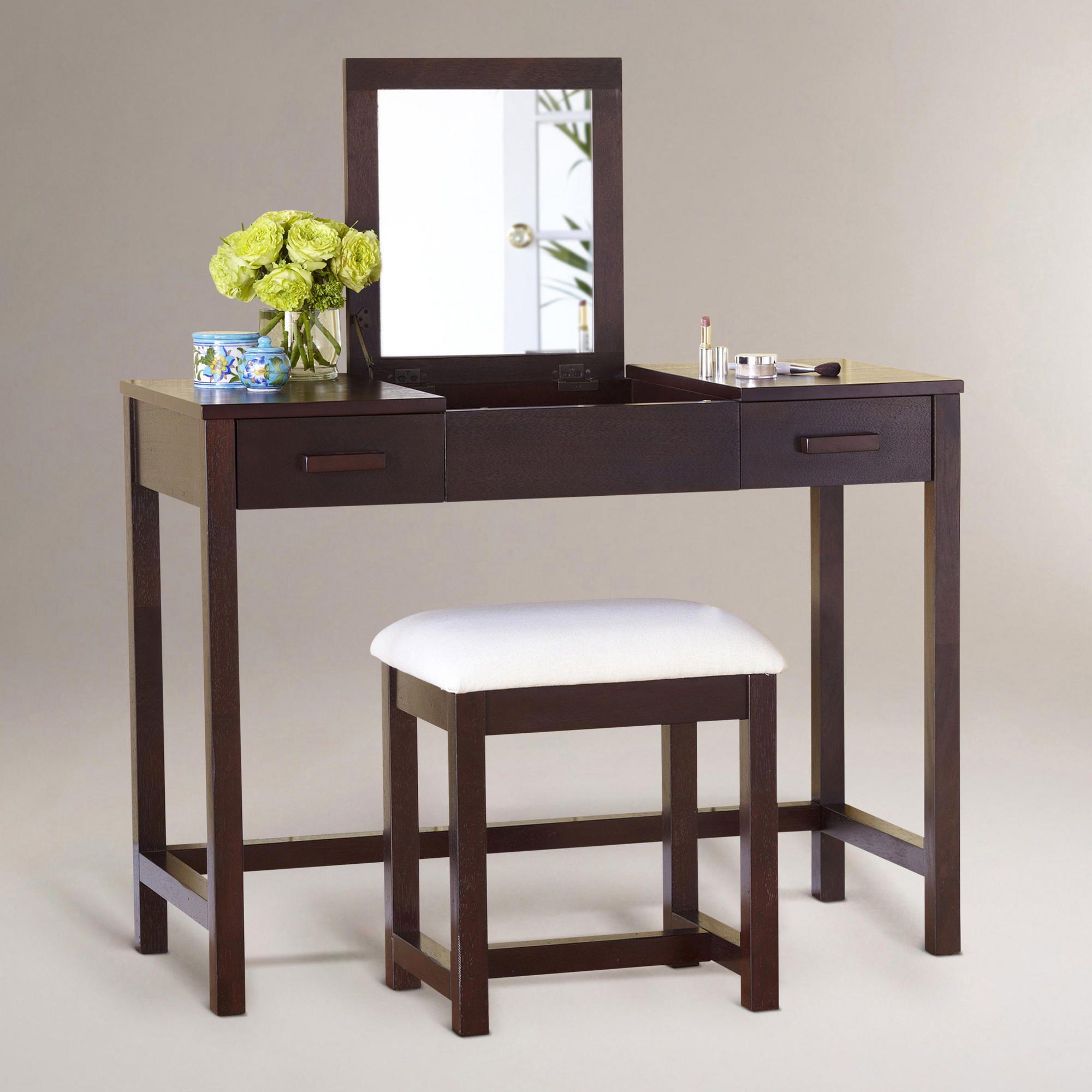 Dark mahogany chase vanity table sku 427632 249 99 sale 159 99